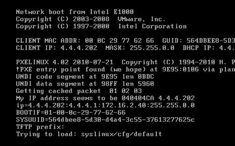 使用PXE安装Linux