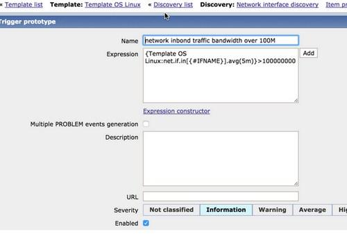 zabbix实现服务器带宽监控报警